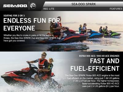 2016 Sea-Doo Spark 3-Up Rotax 900 HO ACE iBR & Convenience
